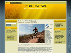 Floral Blue Horizon WordPress Theme